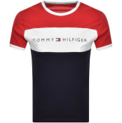 Product Image for Tommy Hilfiger Lounge Logo Flag T Shirt Red